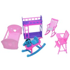 FS Big Sale Dolls Accessories Pretend Play Furniture Set Toys for Barbie Dolls as Xmas Gifts for Kids Style:Baby room - intl