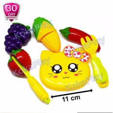 KokaPlay Kitchen Play Set 4 in 1 Masak Masakan Hello Tatakan Kitty Kuning Buah Sayur Potong Anggur Cabe Jagung Strawberry