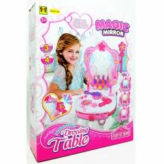 Mainan Anak Perempuan Meja Rias Anak Dressing Table Magic Mirror / Beauty Play Set GirL Toys Mainan Aksesoris Makeup