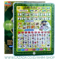 Mainan Edukasi Playpad iPad Muslim + LED 4 Bahasa (4in1) ANAK CERDAS HAFAL DO'A - Hijau