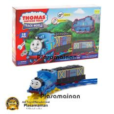 MOMO Toys Classic Express Cartoon Train Track World Set 266B-4 - Mainan Set Gerbong Kereta API