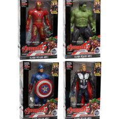 OBRAL MURAH Mainan Robot Avenger 2 Set Of 4 Captain America, Hulk, Iron Man, Thor