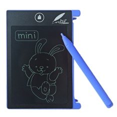 Portable 4.5 Inci LCD Panel Notepad Mini Menulis Elektronik Menggambar Tablet Memo Pesan Kulkas Handwriting Board Alat Belajar Hadiah With Writing Stylus For Lansia Dewasa Children Siswa Biru-INTL