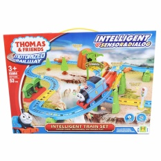 Thomas And Friends Motorized Railway With Intelligent Sensor & Dialog Mainan Kereta Thomas 53pcs  E5004