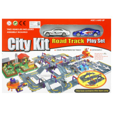 TSH City Kit Road Set Track Playset Street Machine Diecast Metal PT-430