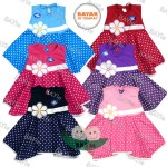 Bayie Baju Bayi Perempuan Dress Motif Polkadot Bunga Planet Kids Usia 0 12 Bulan Pakaian Anak Cewek Lazada Indonesia