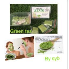 Organic Green Tea Kefir Mask Original by SYB - Masker Kefir Teh Hijau Isi 15 Sachet
