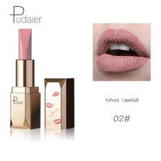 Pudaier Merek 26 Pcs/lot Fashion Matte Bibir Make Up Pigmen Tahan Lama Red Nude Velvet Tahan Air Matte Lipstik Kosmetik 02 Warna-Intl