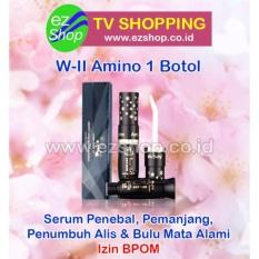 W-II Amino Long Lashes Solution (1 Botol) - Serum / Obat Pelentik, Penebal, Pemanjang, Pelebat, Penumbuh Alis & Bulu Mata Alami (W2 WII Amino) - Jaminan Asli EzShop - Ez Shop Tv Home Shopping Indonesia