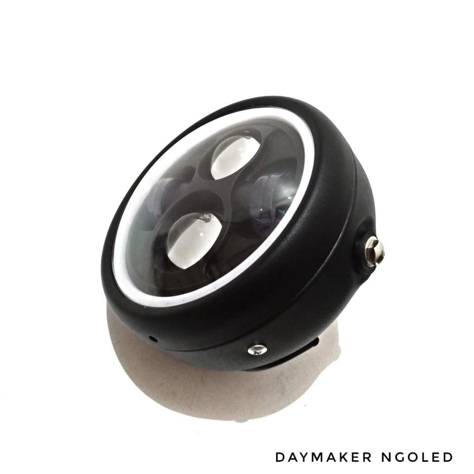 Lampu Daymaker 6 Inch List Led - Reflektor Headlamp Lampu Depan - Custom W175 Cb100 Clasik Universal