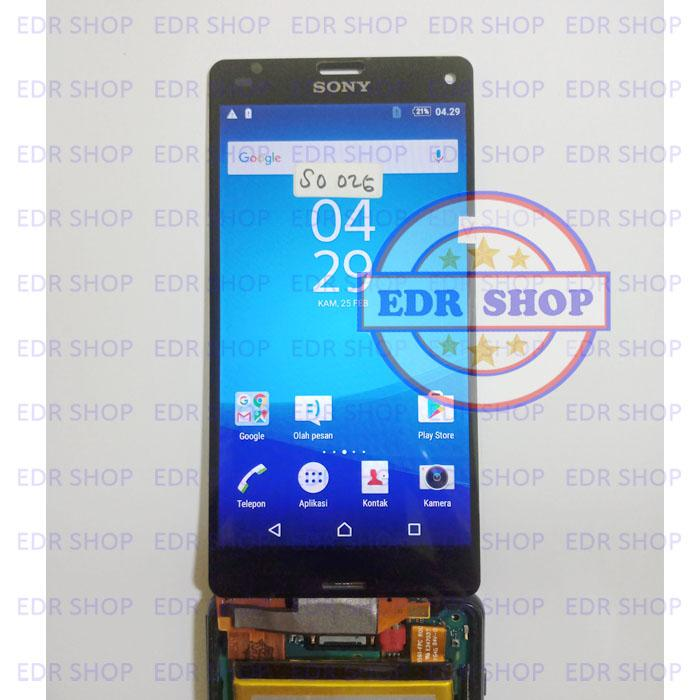 Lcd Sony Xperia Z3 Compact Mini Docomo SO-02G Lcd Touchscreen SO02G Layar Sentuh Original Hitam