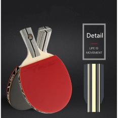 1x Carbon Fiber Table Tennis Racket Double Face Pimples-in Racket Rubber Table Tennis Bat with Bag Top Recommended - intl