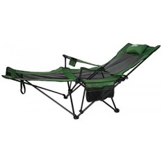 Anigu Mesh Lounge Reclining Folding Camp Chair with Footrest and Carry Bag (Grass Green) - intl