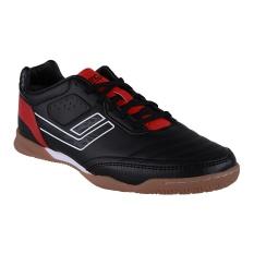 League Legas Series Meister LA Sepatu Futsal - Black-Flame Scarlet-White