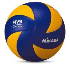 MIKASA Voli MVA200 2016 Rio Olympic Game Ball (Biru/Kuning) Pertandingan Resmi Voli Gratis Jarum Gas Gratis dan Bersih Bag-Intl