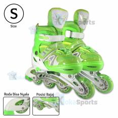 Power Sport Two-Stripes 8000 Aosite InLine Skate Sepatu Roda 2 in 1  Adjustable Wheel 447f2b906e