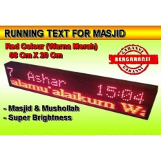 PROMOO...LED RunningText 68X20 MASJID / Running Text Red Color TerMurah