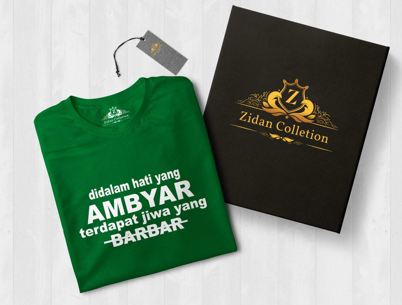Zidan Collection Kaos Tulisan Pria Distro T Shirt Fashion 100