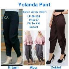 168 Collection Best Celana Panjang Kain Angelina Longpant Wanita