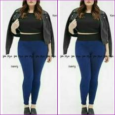 ar wearhouse legging wanita jumbo - navy