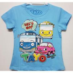 baju kaos anak perempuan tayo lets go biru size 1 - 6 tahun