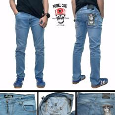Celana jeans skinny bioblitz biru muda pria murah original distro rebel eight