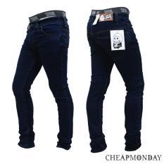 Celana Panjang Jeans Skinny Pensil Cheap Monday - Biru Dongker