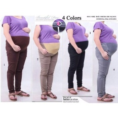 Cj collection Celana hamil jumbo panjang wanita jumbo long pant Nanny - 02 cream