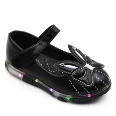 Dea Flat Shoes Anak Perempuan LED 1609-356 - Black Size 26-30