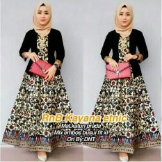 Dress Batik / Kebaya / Batik Kondangan / Gamis Wanita Terbaru / Baju Muslim Wanita Terbaru 2018 - Batik Kanaya
