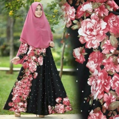 EVRYN MAXI Baju Muslim Murah Gamis Set Syari Dress Pesta Maxmara [3 Color]