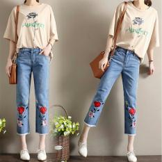 Fashion  Celana Wanita - Rose baggy Jeans