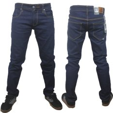 FIFTEEN DENIM Celana jeans skiny fit pria - Blue garment