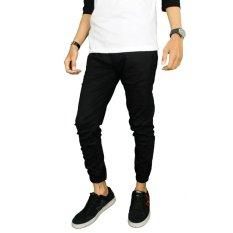 Gudang Fashion - Celana Jogger Panjang Terbaru - Hitam