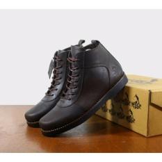 KERAK STORE Sepatu Boots Brodo Wolf / Sepatu Kulit Asli / WOLF GOLDEN ( COKLAT )