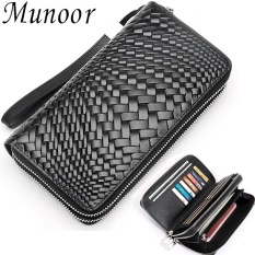 Munoor Genuine Cow Leather Mens Clutch Wallet Casual Coin Pouches Dompet pria Ví nam giới กระเป๋าสตางค์ชาย - intl