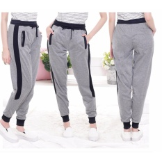 Okechuku Kurt Celana Panjang Training Olahraga Wanita Jogger Pants Sweatpants (Light Grey)