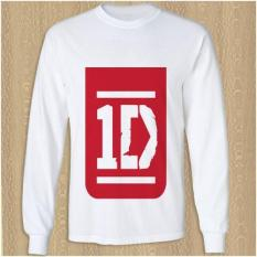 One Direction Red Logo Kaos T Shirt Lengan Panjang DTG A3 - 4En1mj