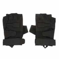 Ormano Sarung Tangan Motor Sepeda Outdoor Sports Half Finger Tali Kanvas Fingerless Gloves Size L s9546