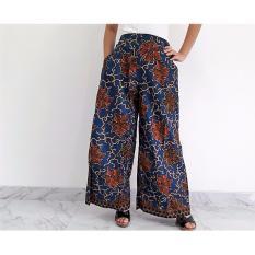 Pitakita Celana Batik Kulot Panjang Klok Karenina-Ungu