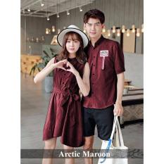 PROMO Couple Dress - Dress Pasangan Online - Dress Arctic Maroon