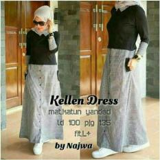 PROMO Kellen Dress / gamis hitam / dress hitam / hijab model baru murah