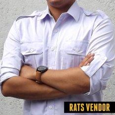Rats Vendor Kemeja Outdoor PDL Lengan Panjang Putih