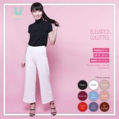 Ready Celana Wanita Murah Surabaya Elevated Culottes White Silky