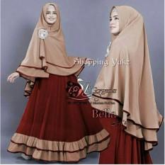 Shopping Yukz Baju Gamis Maxi Dress Muslim Wanita Syari 2in1 BELLA MAROON - COKSU ( Dapat Jilbab ) / Dress Muslim / Gamis Wanita / Baju Muslim / Hijab Muslim / Fashion Muslim / Syar'i Muslim / Maxi Dress Lengan Panjang / Gamis Modern