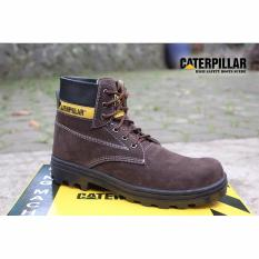 SP sepatu caterpillar safety boots Coklat Tua