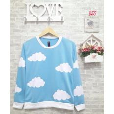 sweater wanita sky blue