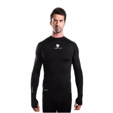 Tiento Baselayer Long Sleeve Thumbhole Black White Baju Kaos Lengan Panjang Ketat Manset Rashguard Compression Base Layer Olahraga Lari Sepak Bola Futsal Voli Running Renang Diving Sepeda Golf Original