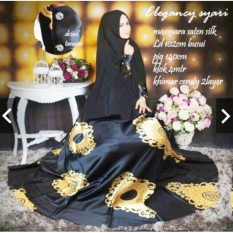TotallyGreatShop Gamis Syari Pesta Premium 1 set dengan Khimar - Gamis Pesta Mewah Elegan - Fashion Busana Baju Kondangan Muslimah - Gaun Pesta Party Dress Hijaber Hijab Jilbab Maxmara Silk Saten Velvet - Kebaya Modern Maxy dress ihelegancy