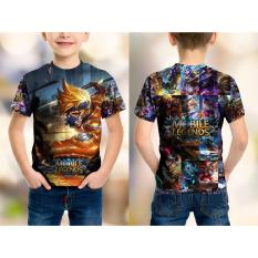 Tshirt Anak Fulprint Custom Mobile Legends Hero Hayabusa The Spacetime Shadow
